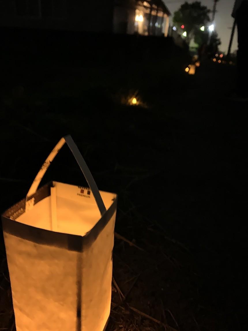長久手市の石作神社で光の切り絵のイベントが開催